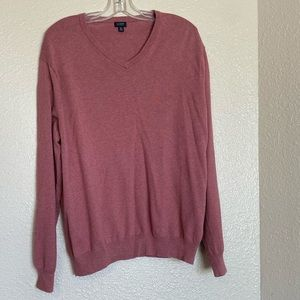 J.Crew Mens Pink Sweater V Neck XL